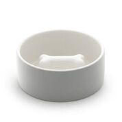 Concrete Grey Slow Feed Dining Dog Bowl