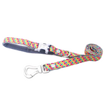 Multicoloured Hexagon Dog Lead