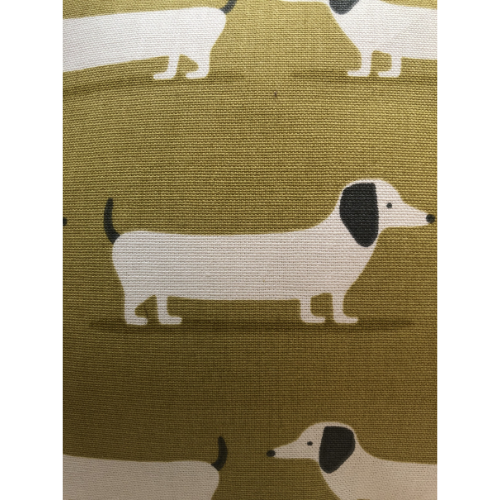 Mustard Dachshund Cushion