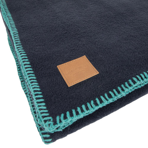 Luxury Fleece Navy Blanket