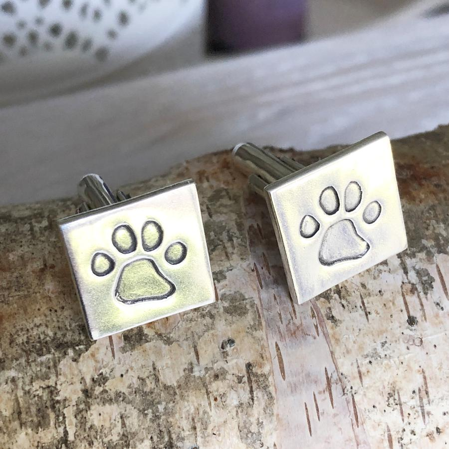 Personalised Paw Print Cufflinks