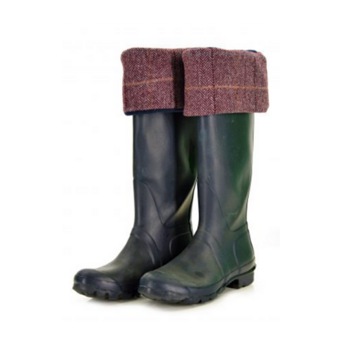 Tweed Welly Warmer Socks