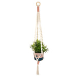 Handmade White & Pink Macrame Planter With Paw Pot
