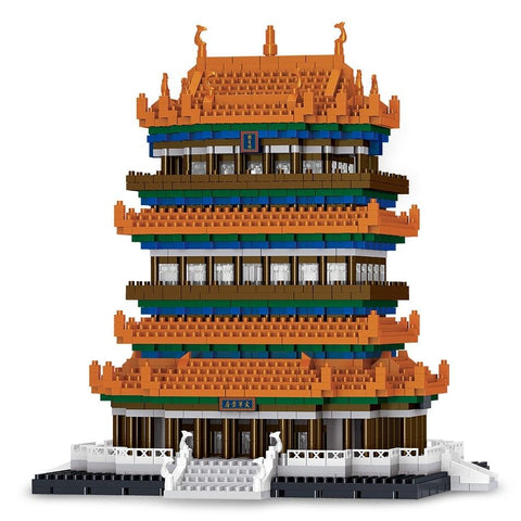 2761pcs Guanque Tower 3D Model Building