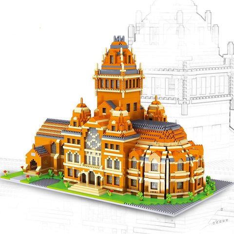 5379pcs Harvard 3D Model Building