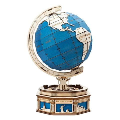 567pcs Rotatable 3D Globe Wooden Model Building
