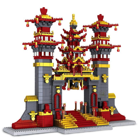 3996pcs Taishan Nantian Gate 3D Model Building
