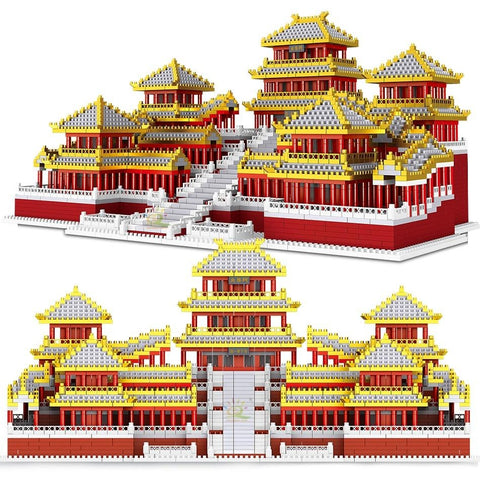 5184pcs Epang Palace 3D Model Building