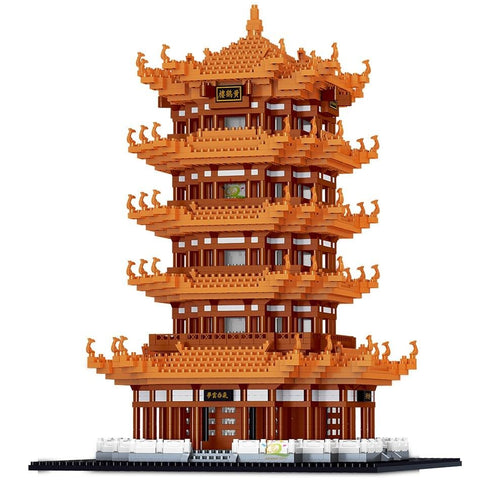 4032pcs Yellow Crane Tower 3D Model Building