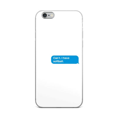 I have Softball iPhone Case