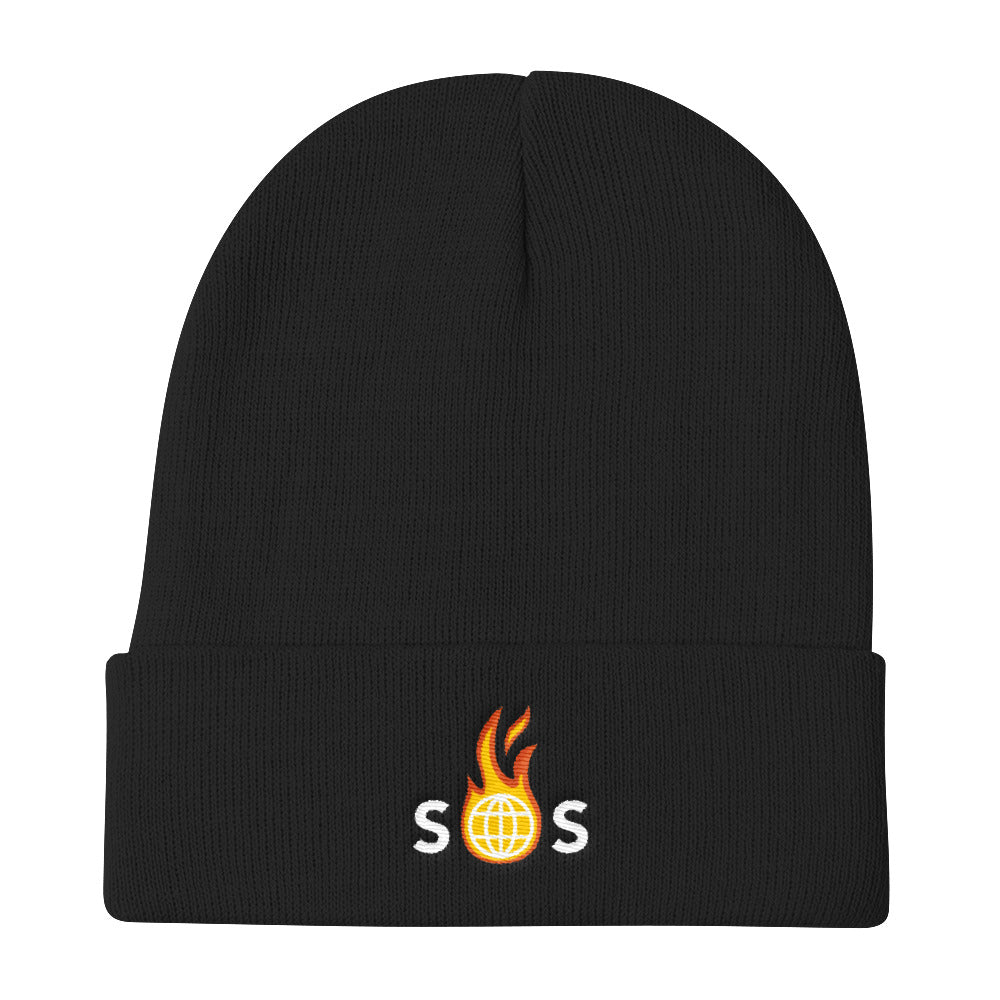SOS Embroidered Beanie