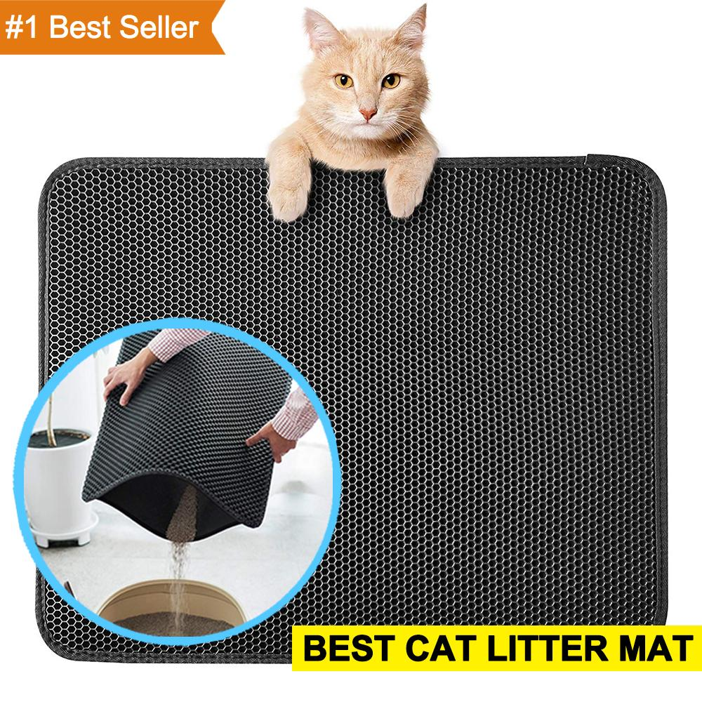 70% Off Anniversary Sale | 2019 Vicky Pro New Double Layer Larger Size Cat Litter Mat