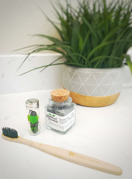 Go plastic-free! Bamboo toothbrushes + Eco dental floss + Toothpowder