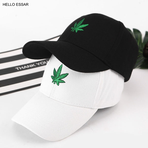 Hemp leaf design baseball cap