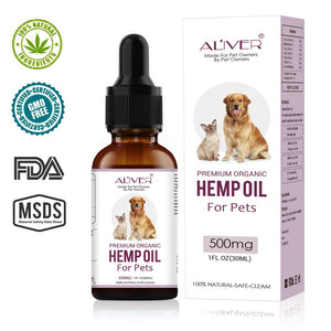 Multifunction essential hemp oil for cats and dogs, 500Mg