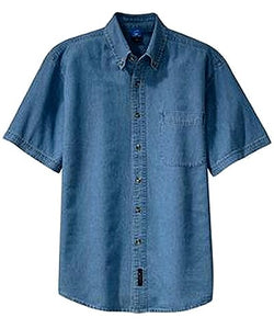 Men's Denim Short Sleeve Shirt