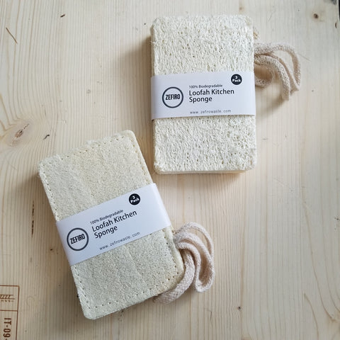 Loofah Kitchen Sponge -  (3 Pack)