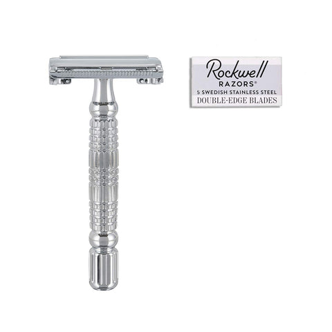Safety Razor R1 White Chrome