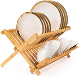 Bamboo Two-Tier Dish Drying Rack