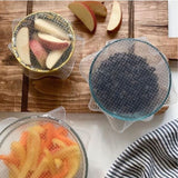 Reusable Silicone Wraps - Set of Four