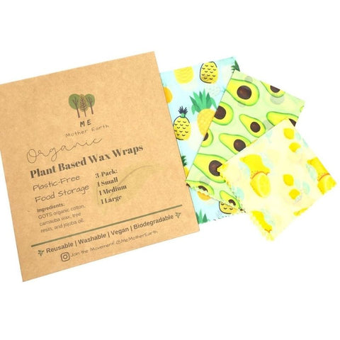Vegan Wax Food Wraps 3-Pack