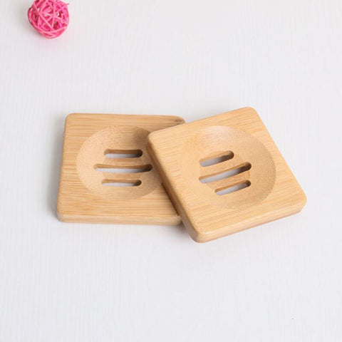 Square Bamboo Soap/Bar Holder
