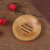 Bamboo Round Soap/Shampoo Holder