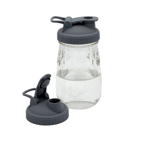 Pour & Store Lid with Carry Loop for Regular Mouth Mason Jars