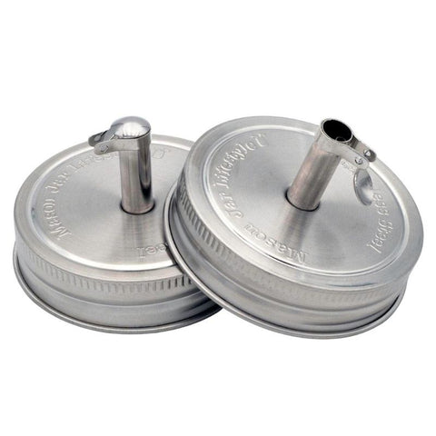 Stainless Steel Pour Spout Oil Cruet Lids for Mason Jars