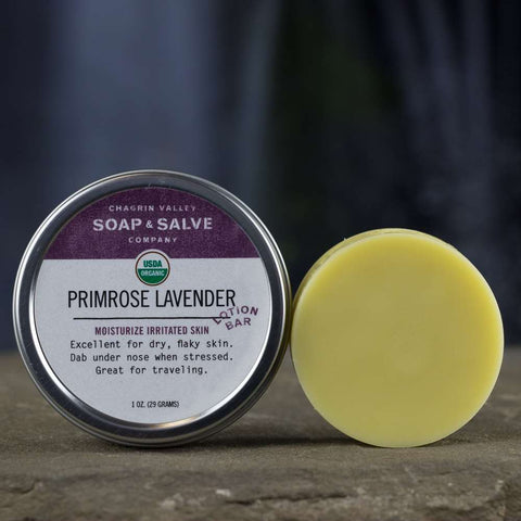 Primrose Lavender Rosemary Lotion Bar for Dry Skin