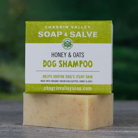Honey & Oats Dog Shampoo for Itchy Skin 3.8 Oz Bar