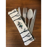 SAVE THE TREES Stainless Steel Mobile Cutlery Set
