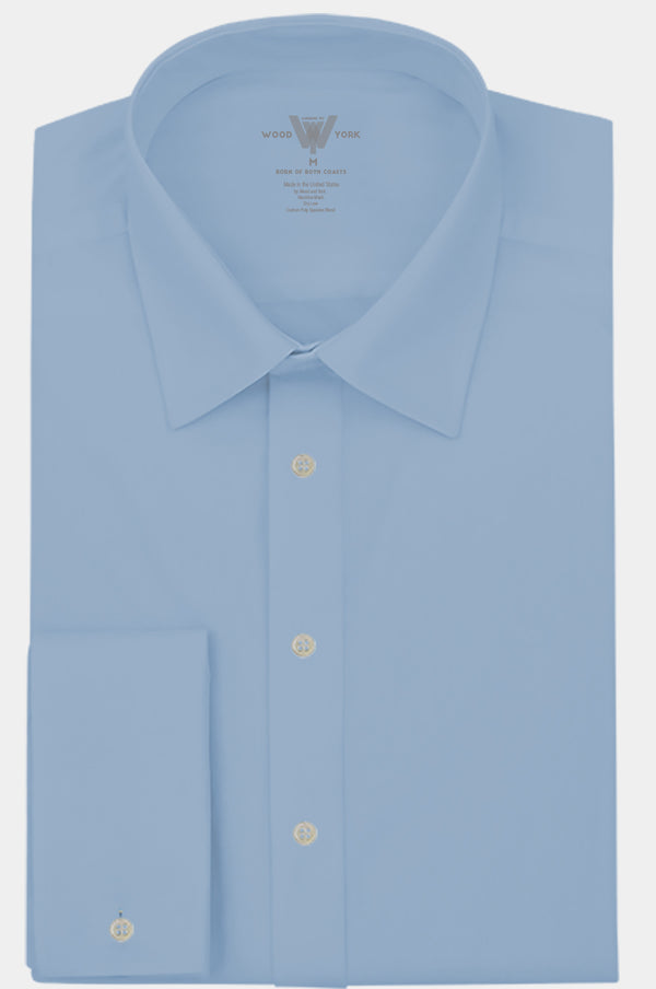 Supreme Sky Blue Performance Dress Shirt With Tri-Collar Technology - Wood and York