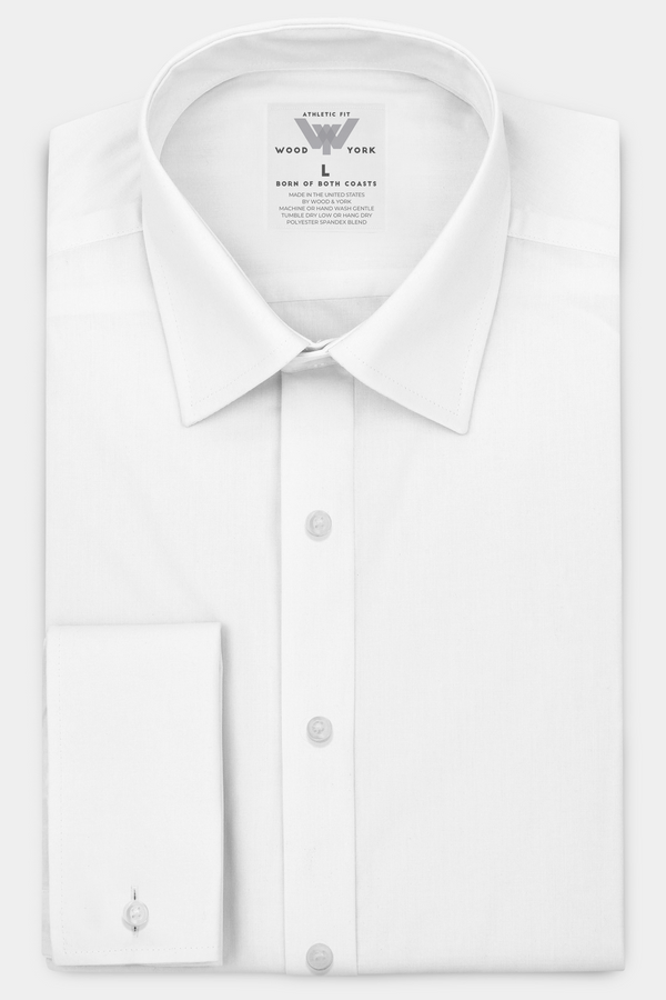 Great White Performance Dress Shirt With Five Day Extended Wear Protection - Wood and York