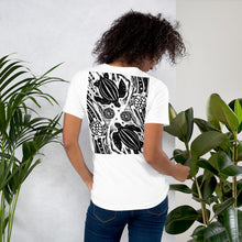 Load image into Gallery viewer, A Short-Sleeve Unisex T-Shirt Turtle Woodcut Design by Debbie Purser
