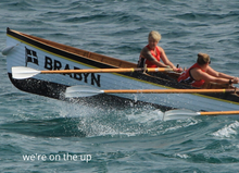 Load image into Gallery viewer, Gig Rower Greetings Card - We're on the Up