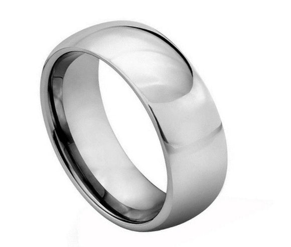 Tungsten 8mm Classic Polished Dome Ring