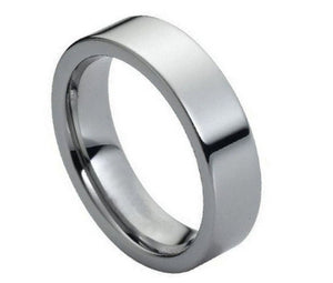 Tungsten 6mm Polished Flat Band