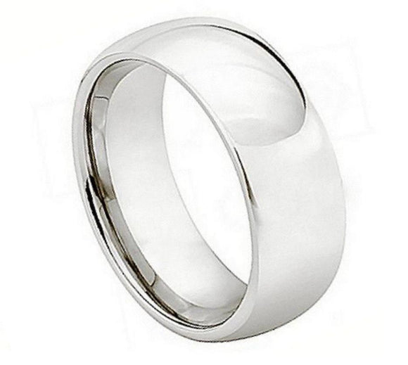 Cobalt 7mm High Polished Domed Band