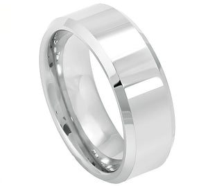 Cobalt 8mm High Polished with Beveled Edges