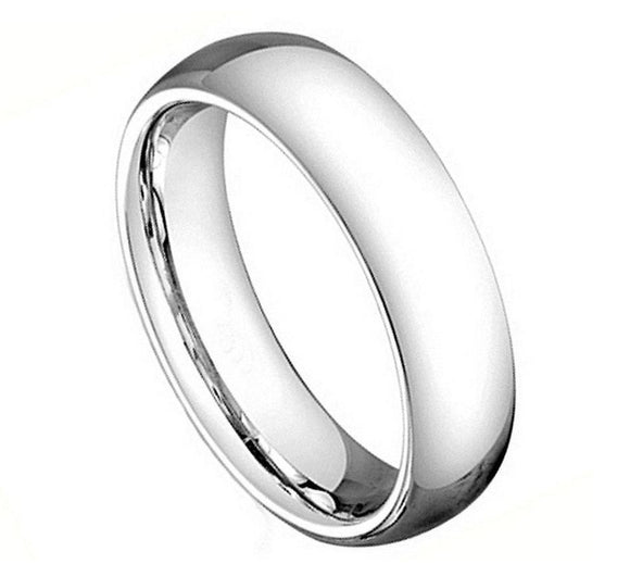 Cobalt 5mm Dome Cut Polished Band