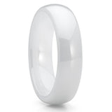 5mm White Ivory Ceramic Wedding Band Ring