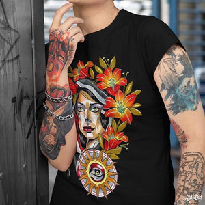 tee shirt Femme tattoo originaux Ink Shirt
