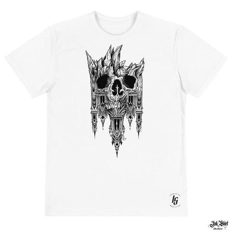 Tee Shirt Homme Gothique blanc Ink Shirt 1.1