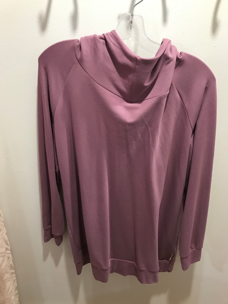 GV37 - Hoodie Chantal French terry Vieux mauve col Haut - XL Long
