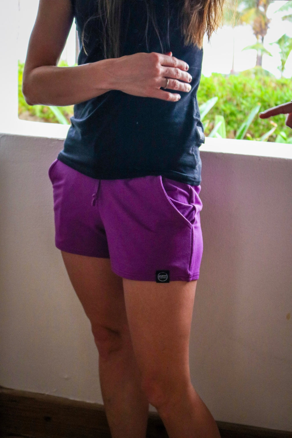 Shorts Mou en French Terry Raisin - Fait par une maman