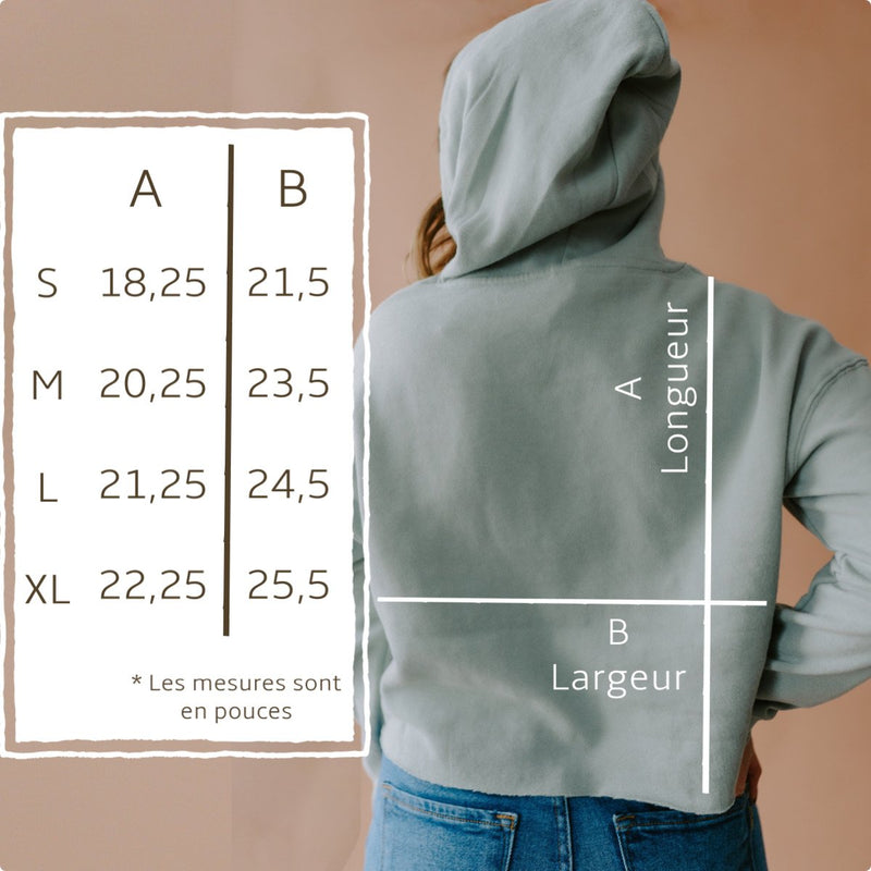 Holive - Hoodie Crop ''Different is beautiful'' - crème