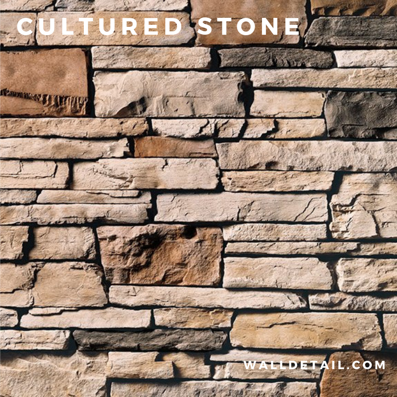 Cultured Stone Veneer by Wall Detail - 100 SF Installed