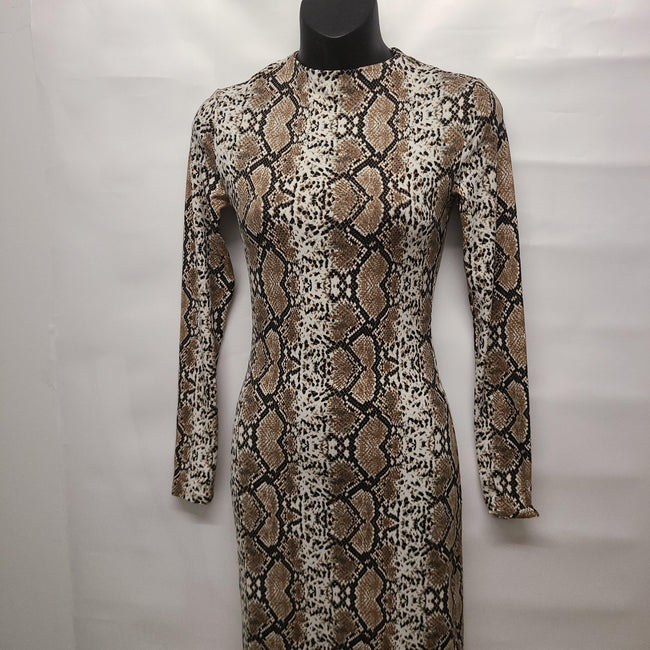 [prodcut_type] - BOA Snake Print Midi Dress - Easy Pickins
