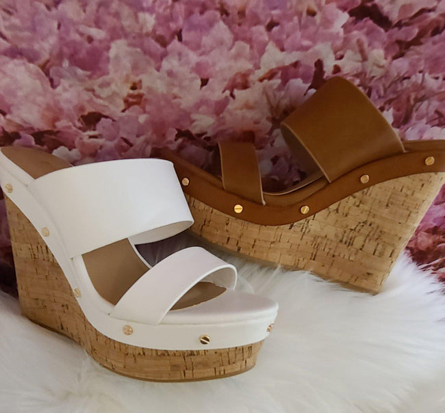 Womens wedge corkbottom